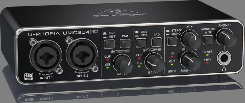 Behringer UMC204HD Audio Interface
