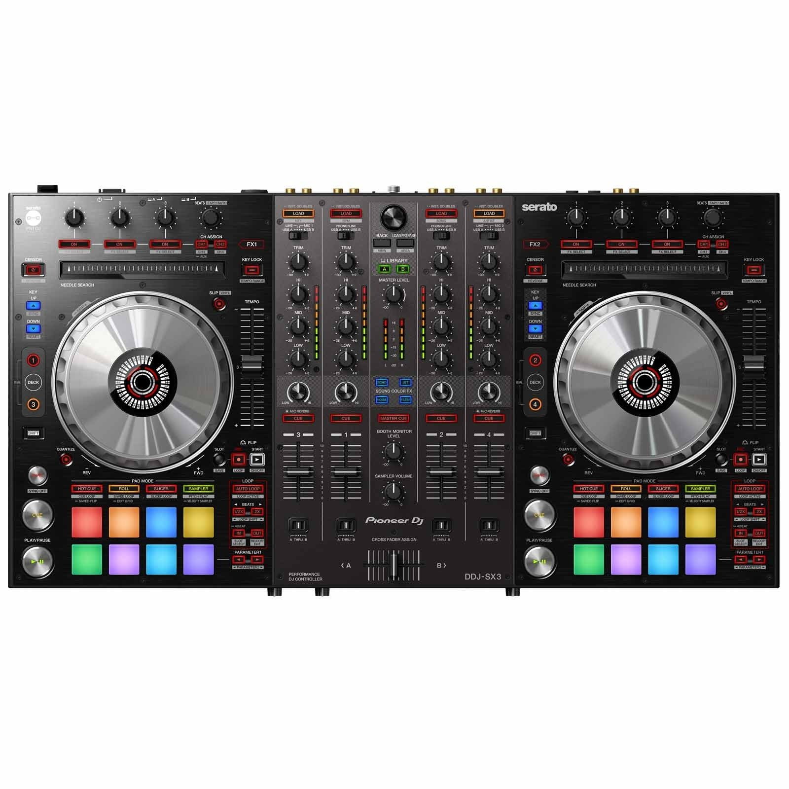 Pioneer DJ DDJ-SX3 Controller for Serato DJ Pro