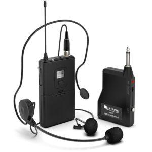 Wireless Microphone System Set With Headset K037B Black