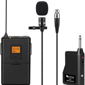 FIFINE Fifine 20-Channel UHF Wireless Lavalier Lapel Microphone
