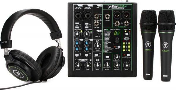 Mackie Performer Bundle with Mixer Microphones and Headphones