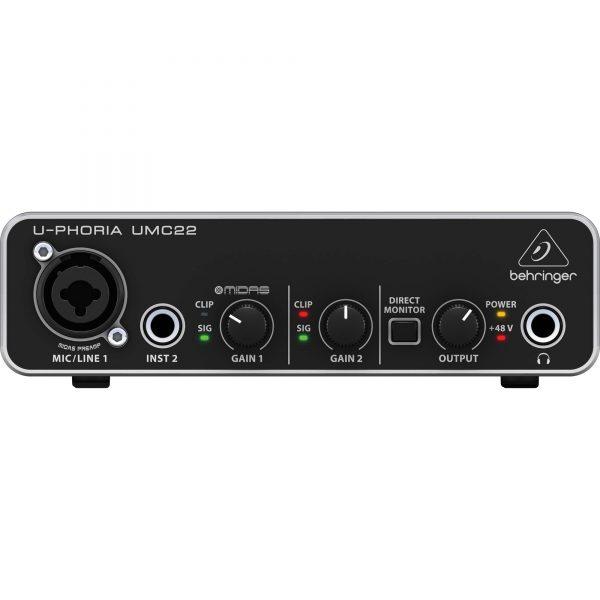 Behringer UMC22 2x2 USB Audio Interface