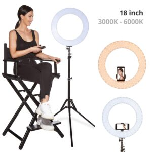 18 inch 60 W Dimmable LED Ring Light Kit with Stand