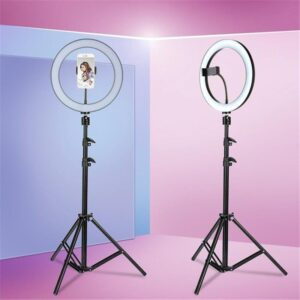 """ZGA 10"""" Selfie Ring Light with Tripod Stand"""