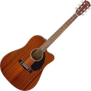 Fender CD 60SCE All Mahogany Finish Acoustic Guitar