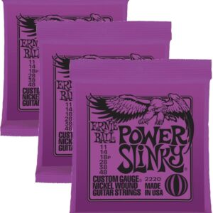 Power Slinky Nickel Wound Electric Guitar String 3 Packs