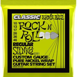 Ernieball Hybrid Slinky Classic Rock and Roll Pure Nickel Electric Guitar String