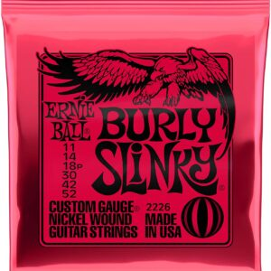 Ernie Ball welcomes two new popular gauge combinations to its world famous Slinky line of electric guitars strings. Burly and ultra Slinky guitar sets feature the same great bright and balanced tone that Slinkys are known for, in new never-before-offered gauge combination