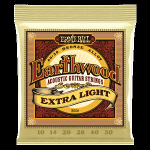 Ernieball Earthwood 5-String Banjo Bluegrass Loop End 80/20 Bronze Acoustic Guitar Strings