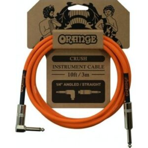 Orange Crush 3 Metre Instrument Cable Angled to Straight