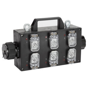 RCF CBL LKS 19 BREAKOUT Breakout BOX with LKS 19 INOUT/OUTPUT TO 6x powercon