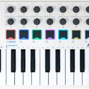 Arturia MiniLab MkII Portable USB-MIDI Controller (White)