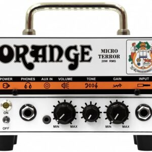 Orange Micro Terror solid state mini head with valve preamp & headphone out, 20 Watts