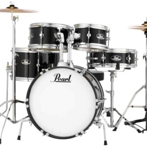 Pearl Roadshow Jr. 5-piece Complete Drum Set with Cymbals - Jet Black
