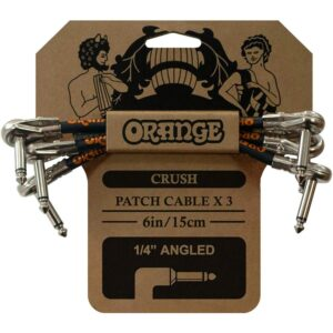 "Orange Crush 6"" Patch Cable 3 pack"