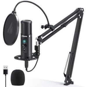 Maono PM422 Podcast Zero Latency Monitoring USB Microphone