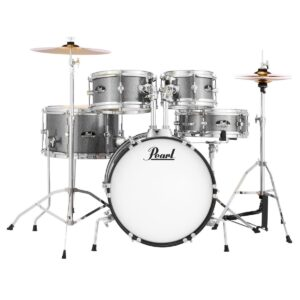 Pearl Roadshow Jr. 5-piece Complete Drum Set with Cymbals - Grindstone Sparkle