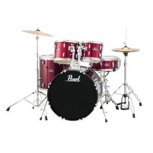 Pearl Road Show 5pc Drum Set 2216B/1008T/1209T/1616F/1455S With Cymbal & Hardware Red Wine