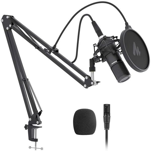 Maono AU-PM320S Cardioid Vocal Studio Recording XLR Condenser Microphone Kit