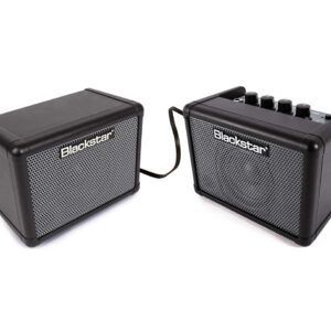 "Blackstar Fly3 Stereo Bass Pack - 6 Watt 2 x 3"" Black Bass Guitar Combo Amplifier with Extension Speaker"