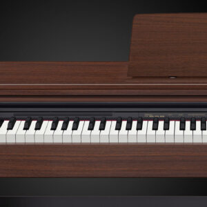 """Number of Keys: 88 Type of Keys: Full size, Scaled Hammer Action Keyboard II, Tri-sensor Touch Sensitivity: 3 levels Presets: 22 tones, Multi-dimensional Morphing AiR Polyphony: 192 Notes Effects Types: 4 x Reverb, 4 x Chorus, 3 x Brilliance Song Playback: 70 internal songs Recording: MIDI 2-track recorder, 1 song, approximately 5000 notes Audio Outputs: 2 x 1/4"""" (output/headphones) USB: 1 x Type B MIDI I/O: USB Number of Pedals: 3 (damper, sostenuto, soft) Built-in Speakers: 2 x 4.7"""" Amplifier: 2 x 8W Software: Chordana Play (iOS, Android) Bench/Stand Included: Stand Power Source: 12V DC power supply (included) Height: 32.32"""" Width: 55.78"""" Depth: 17"""" Weight: 80.7 lbs. Manufacturer Part Number: AP270BK"""