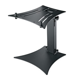 This foldable and space-saving laptop stand is a must-have for every mobile DJ and musician.