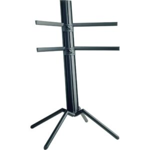 K&M Spider Keyboard Stand, Black Anodized Finish