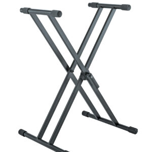 K&M Double X-Stand For Keyboard »Rick« Black Color