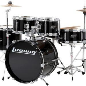 Ludwig LJR1061 Junior Drum Kit, Black