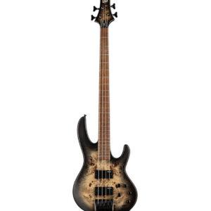 ESP LTD D-4 Bass Guitar - Black Natural Burst Satin