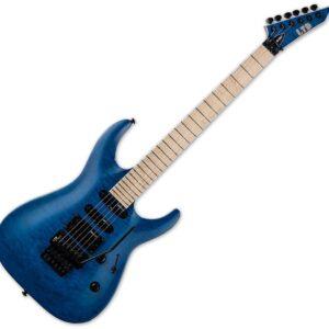 ESP LTD MH-203QM Electric Guitar, See Thru Blue