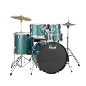 Pearl Road Show 5pc Drum Set With Cymbal & Hardware Aqua Glitter