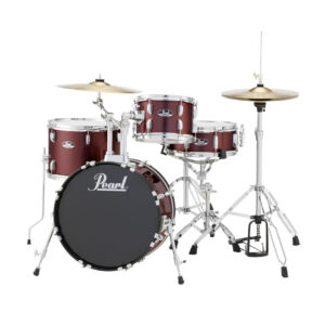 Pearl Road Show 4pc Drum Set 1with Cymbal & Hardware Red Wine