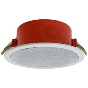 """Ahuja CSF6061T is a high-quality fire dome ceiling speaker with an aesthetically designed metal frame and a protective metal dome and a 6"""" Full Range Speaker 6W/100V."""