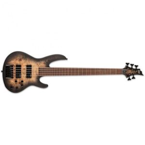 ESP LTD D-5 Bass Guitar - Black Natural Burst Satin