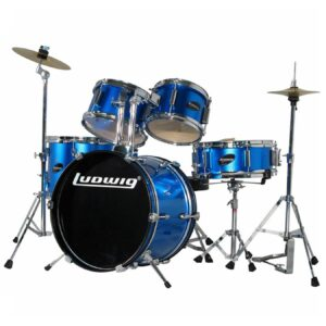 Ludwig LJR1062 5 Piece Drum Set with Cymbals Blue